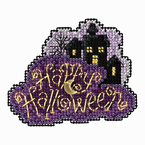 Mill Hill Moonlit Night Beaded Counted Cross Stitch Halloween Ornament Kit 2018 Autumn Harvest MH181822