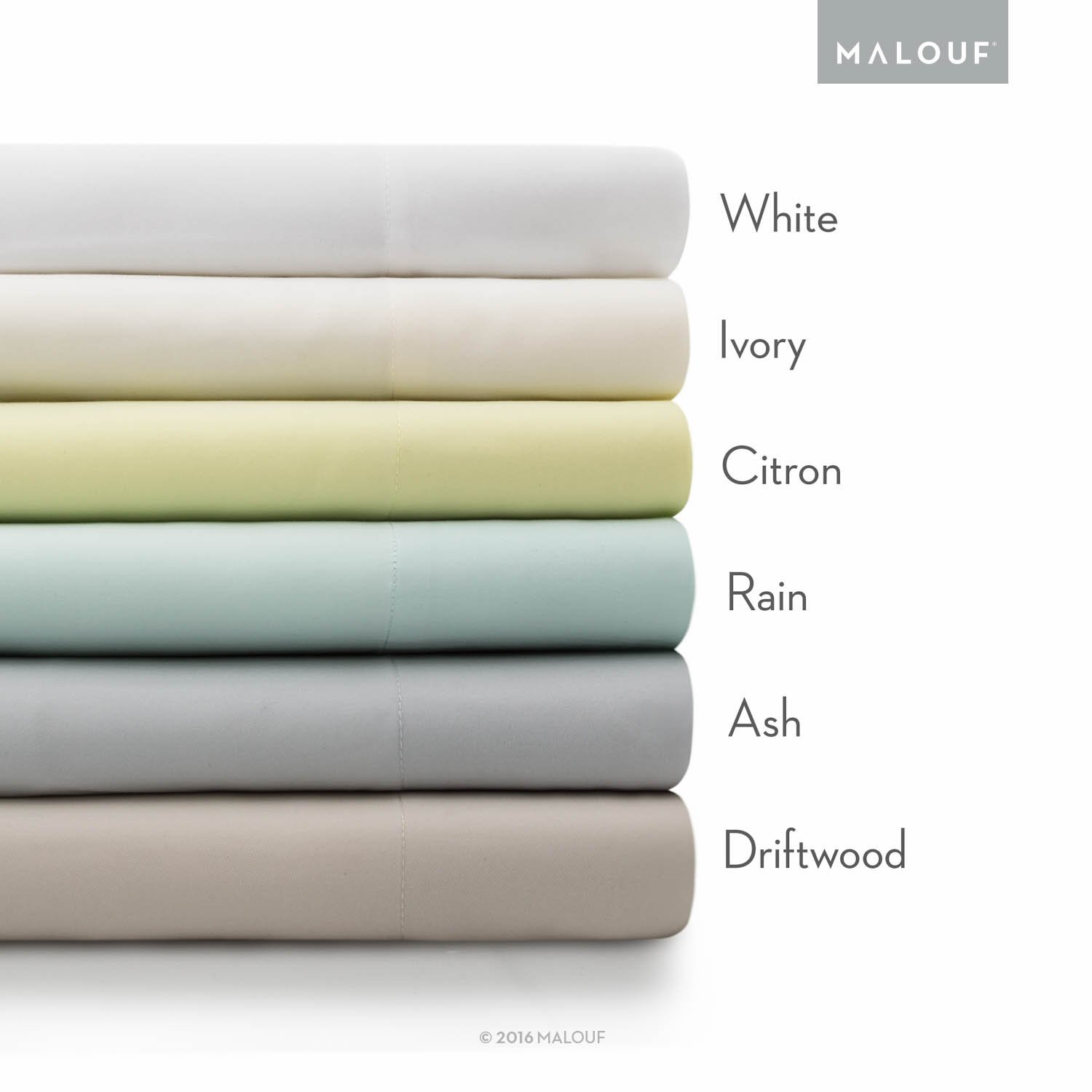 MALOUF Split Head 100% Rayon From Bamboo Sheet Set - 4-pc Set - Queen - Driftwood by MALOUF (Image #4)