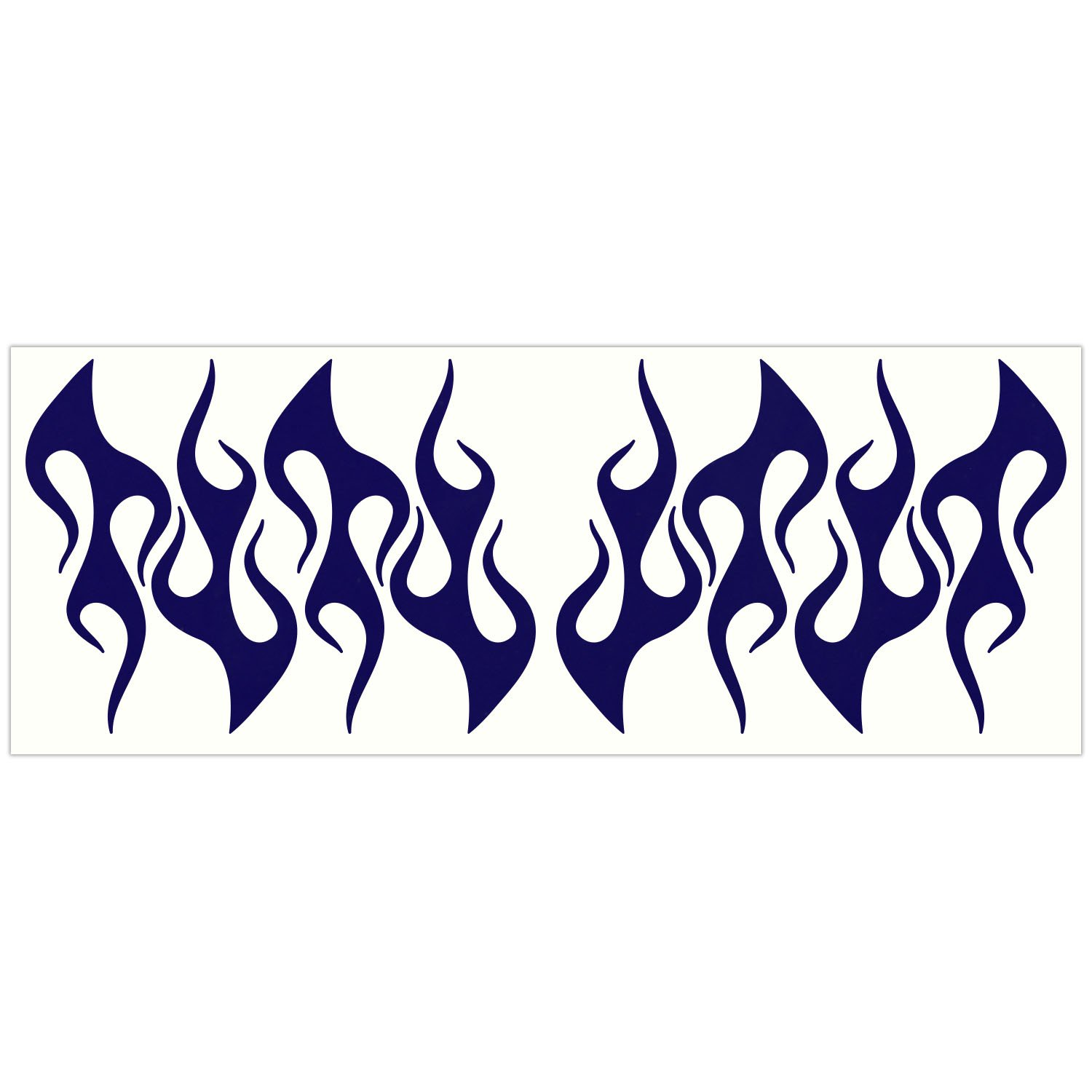 Pack of 8 Bicycles Wheelchairs and More Strollers LiteMark Reflective 4 Inch Flames Sticker Decals for Helmets