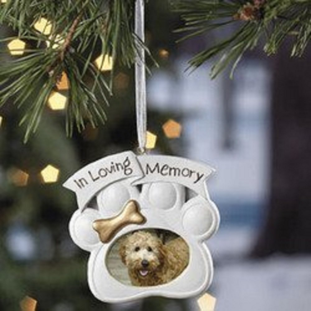 Personalized pet ornament - Amazon Com Loving Memory Dog Memorial Christmas Ornament Photo Home Kitchen