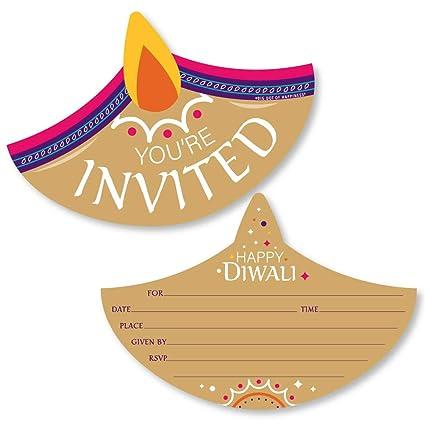 Amazon Com Big Dot Of Happiness Happy Diwali Shaped Fill