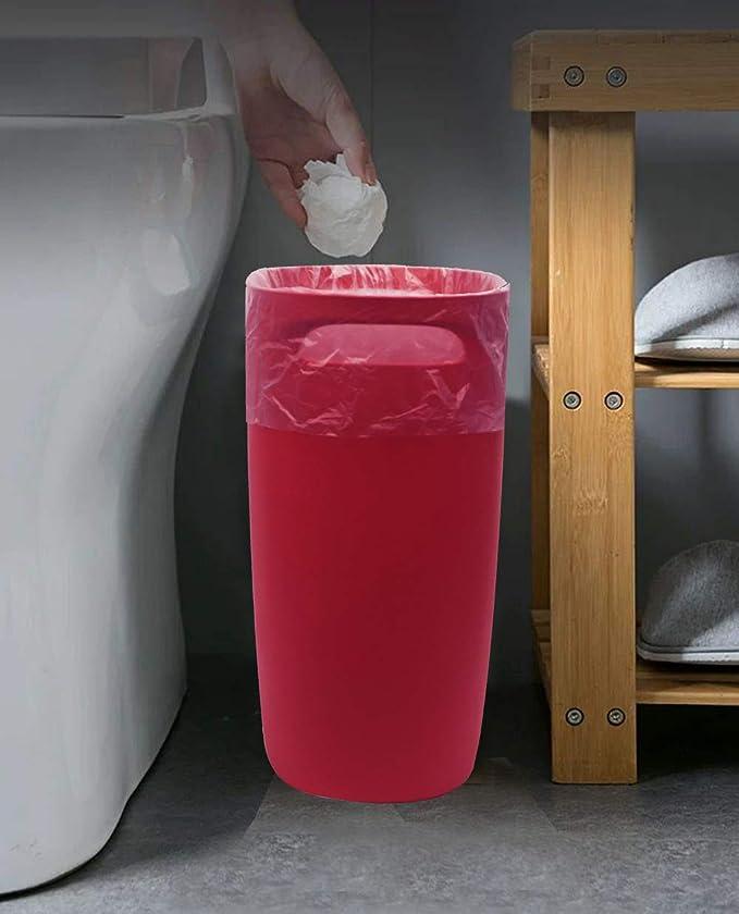 paquete de 2 oficina rojo, 15 litros cocina dormitorio Feisco Papelera peque/ña de 15 litros para ba/ño