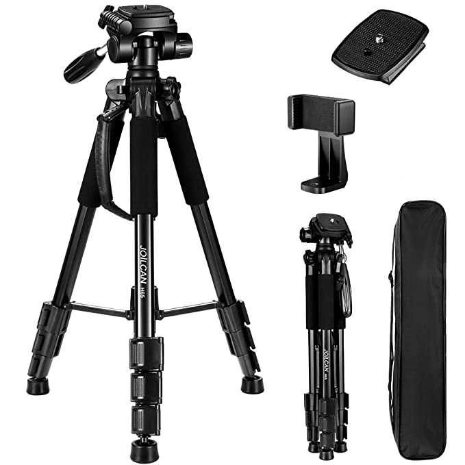 ZOMEI 58 Compact Light Weight Travel Portable Aluminum Camera Tripod for Canon Nikon Sony DSLR Camera with Carry Case 11 lb Load Orange