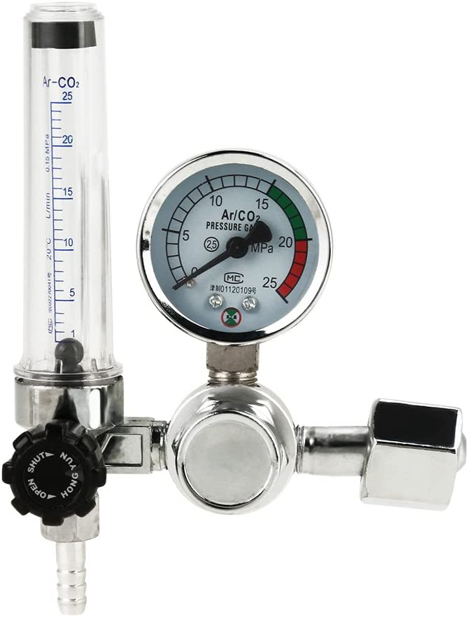 Regulador de presión profesional, 0 – 25 MPa, soldador de presión Argon Co2 MAG/WIG con separador de agua de Flowmeter