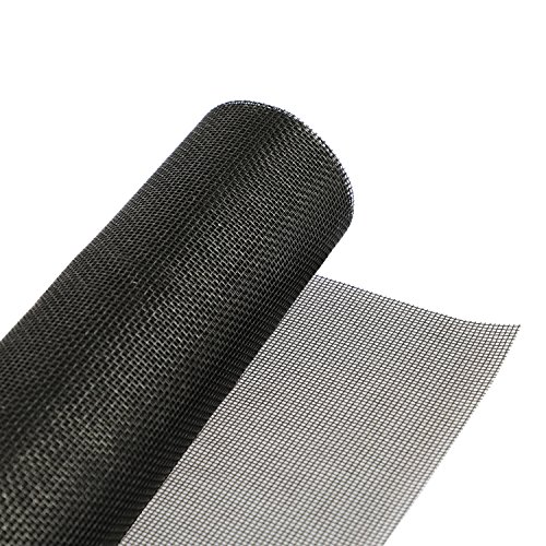 Fiberglass Window Screen, 48X99 Inch Window Mesh DIY Custom Black Screen Door Replacement Mesh Anti Mosquito Bug Insect Screen for Windows and Doors