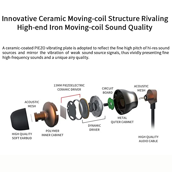 make mate artiste dc1 ceramic moving-coil dual-unit: amazon in: electronics