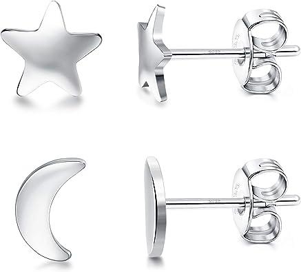 925 SLIVER STERLING Star Petits Clous D/'Oreilles Pour Filles Cadeau Fashion Jewelry