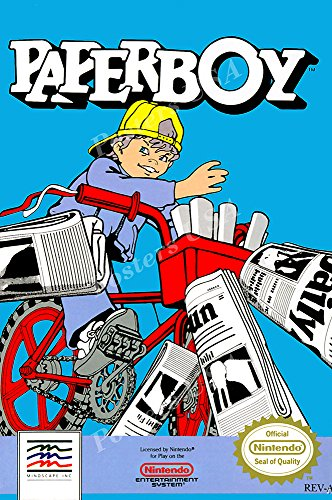 MCPosters Paperboy NES Paper Boy BOX ART Poster GLOSSY FINIS