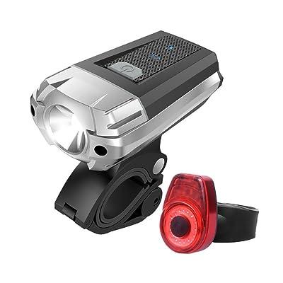 LED Bike Light Set Vélo Phare Et Queue Lumière Arrière Mini Led Lampe De Poche Cycle Lumières USB Rechargeable Étanche Avec 390 Lumen LED Vélo Lumière