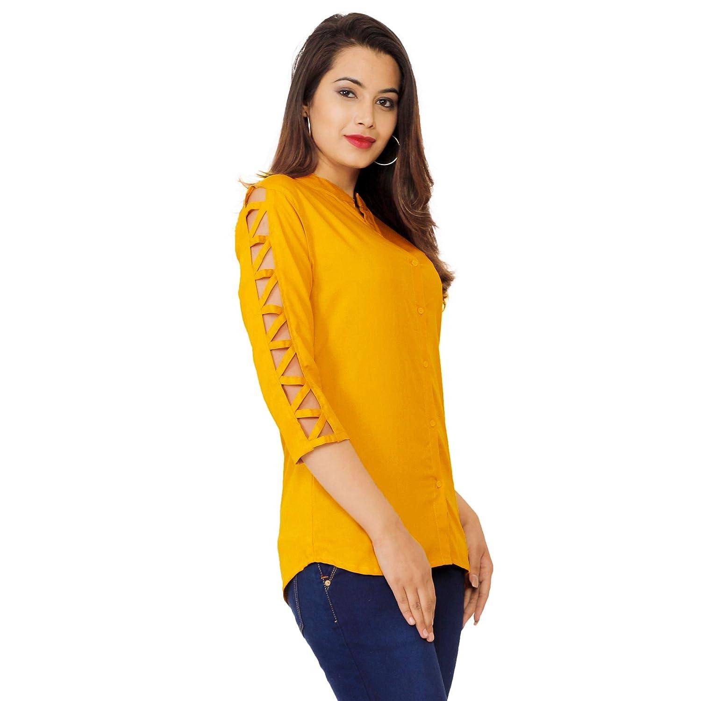 FAB STAR Women's Beautiful Designer Rayon Top for Women