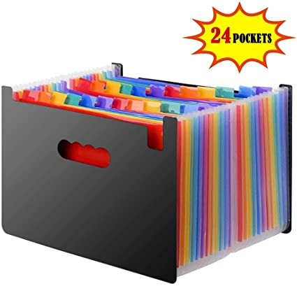 DAMIGRAM Carpetas Plastico A4 Soporte Extensible Portátil Acordeón ...