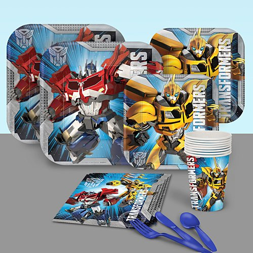 Transformers Basic Party Pack Party Supplies Decorations Plates Napkins Cups Tableware (Transformers Ounce 9 Cups)