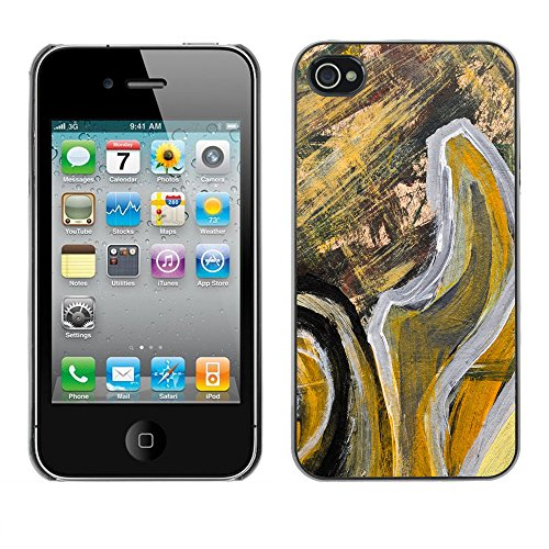 Premio Sottile Slim Cassa Custodia Case Cover Shell // V00001816 Peinture abstraite // Apple iPhone 4 4S 4G