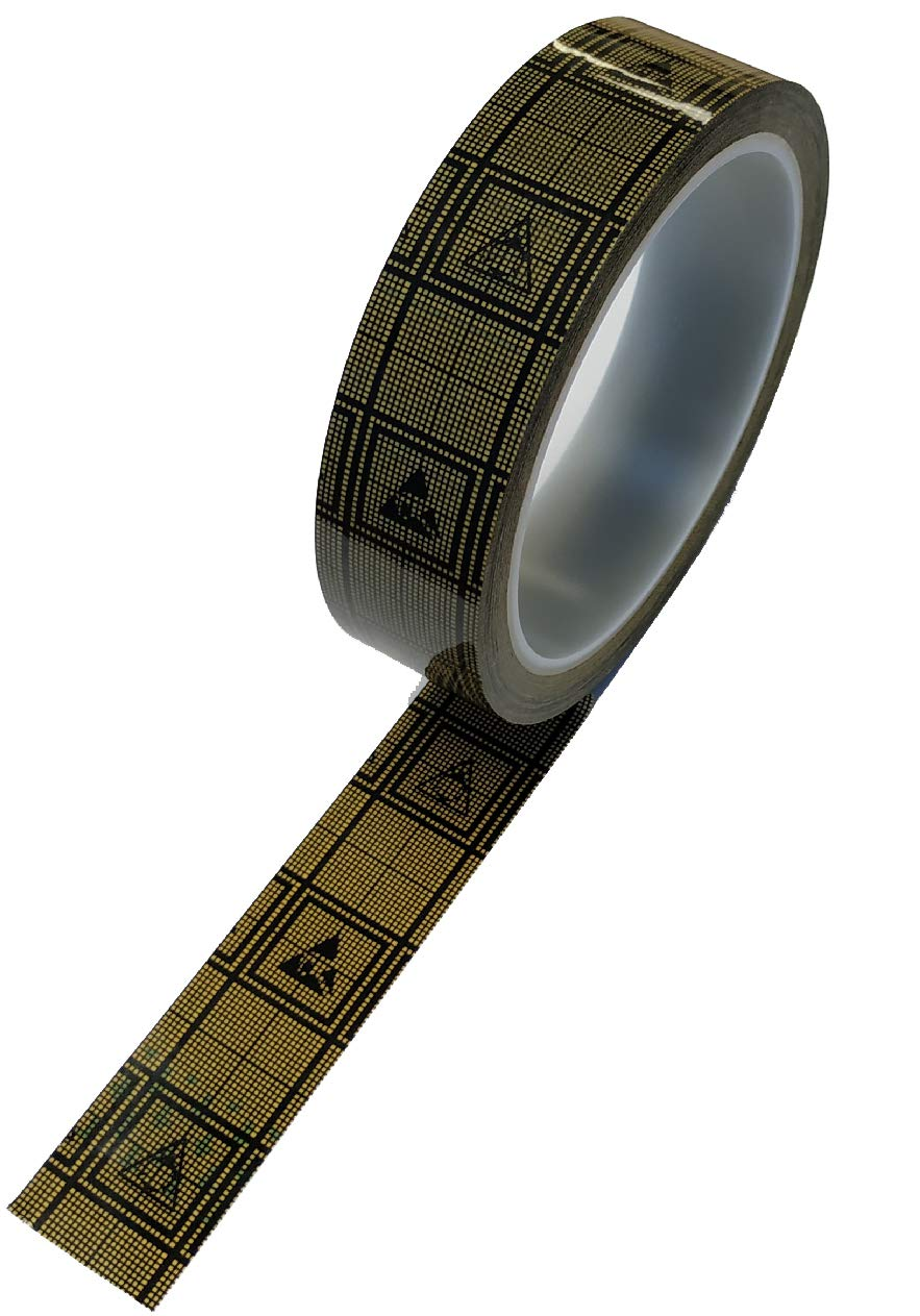 Bertech 2'' Wide x 36 Yards Long Conductive Grid Tape, 1.9 Mil Thick on a 3'' Core