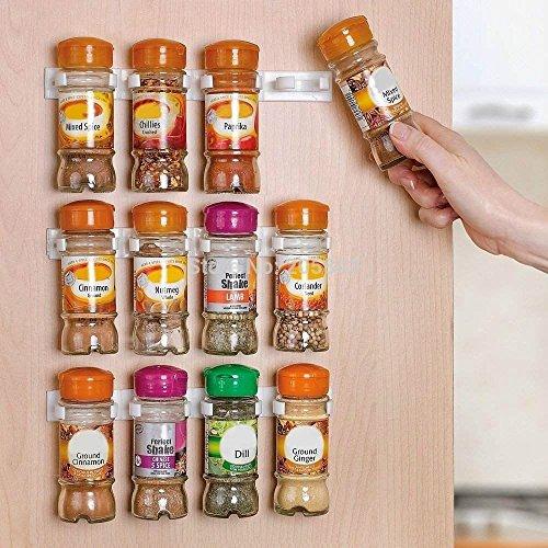 (3PCS/SET Spice wall Rack Storage,plastic Kitchen organizer,12 Cabinet Door hooks)