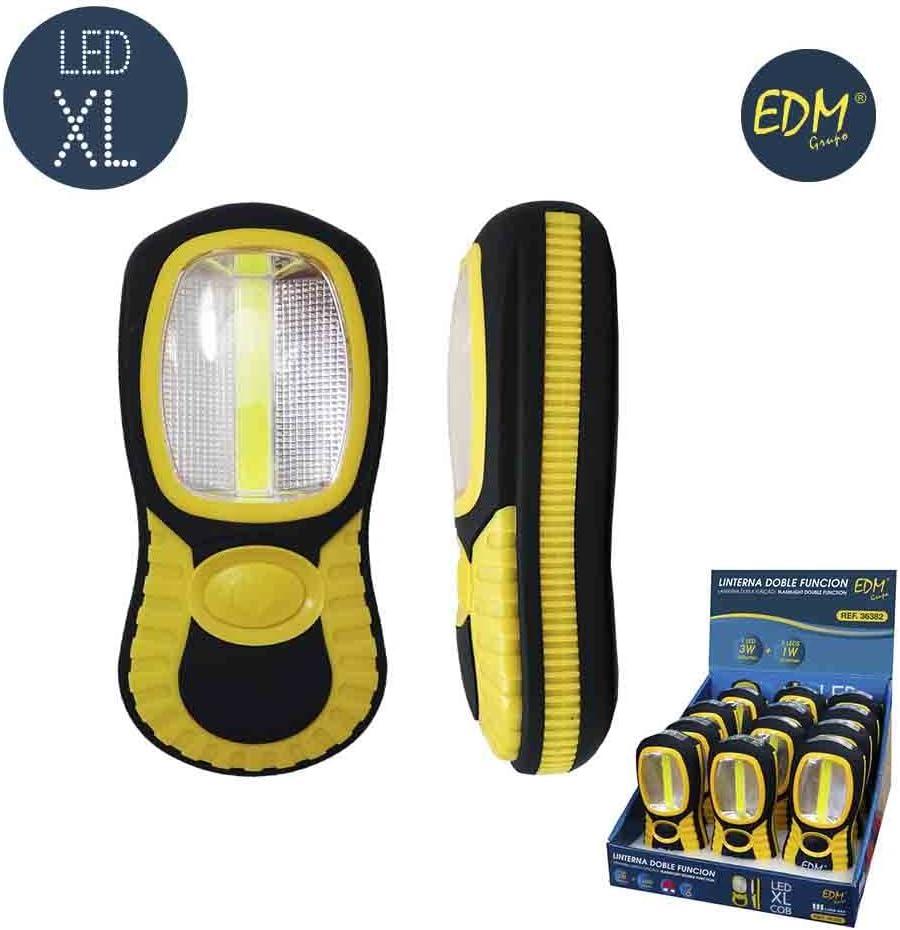 LINTERNA LED COB XL DOBLE FUNCION 1 LED XL 3W Y LED X1W