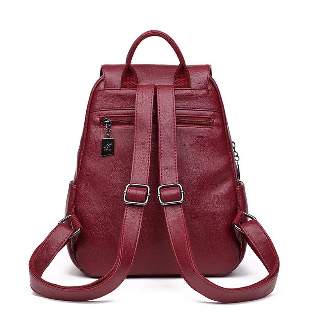 Frauen Leder rucksäcke rucksäcke rucksäcke schultaschen für mädchen adrette Feste weibliche Back Pack Damen bagpack Winerot Backpacks B07P7WH1MJ Daypacks Einzelhandelspreis d71c70