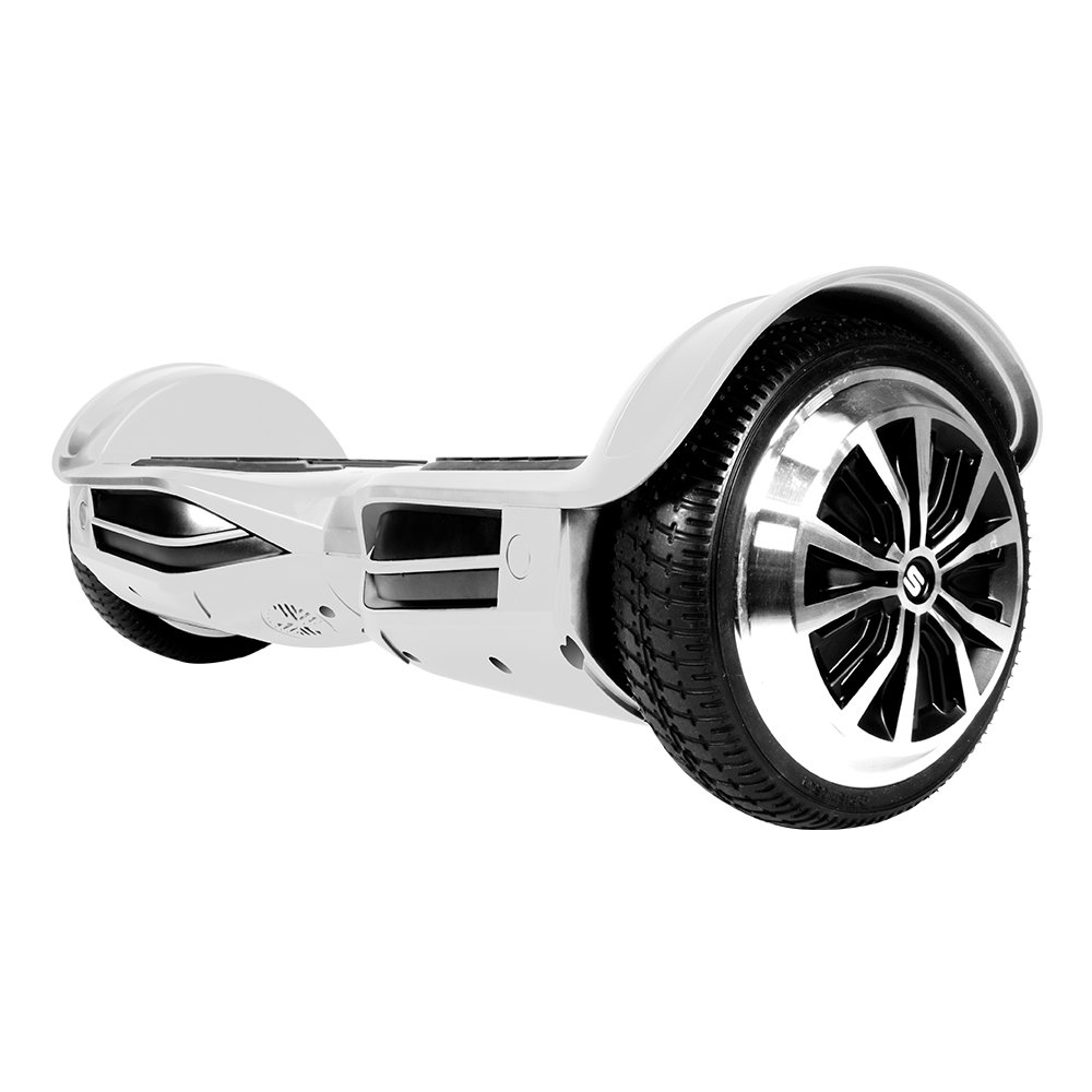 Swagtron T380 Hoverboard - Bluetooth Speaker & Lights, Personalize Experience w/Android/iOS App (White) by Swagtron