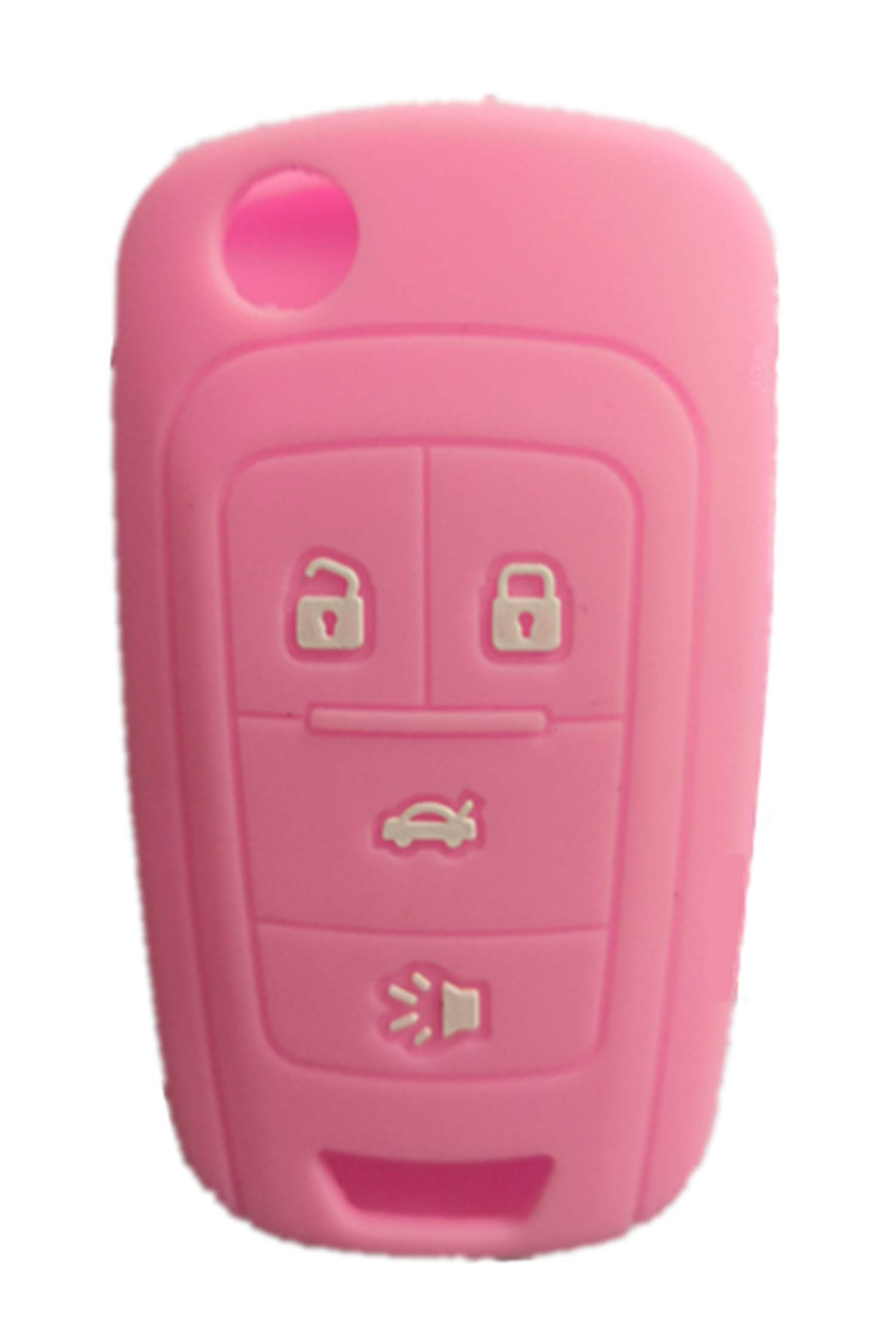 KAWIHEN Silicone Key Fob Cover Compatible with Chevrolet Chevy Cruze Equinox Impala Malibu Sonic Spark Volt Camaro 4 Buttons Key Fob Case Cover OHT01060512 KR55WK50073