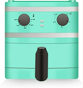 Sync Living Compact Electric Air Fryer, Oil-Less Healthy Cooker, Timer & Temperature Controls, 1 Quart, Aqua
