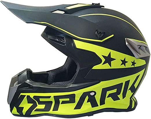 DONG Casco de Bicicleta de montaña de Cara Completa, Negro - Spark ...