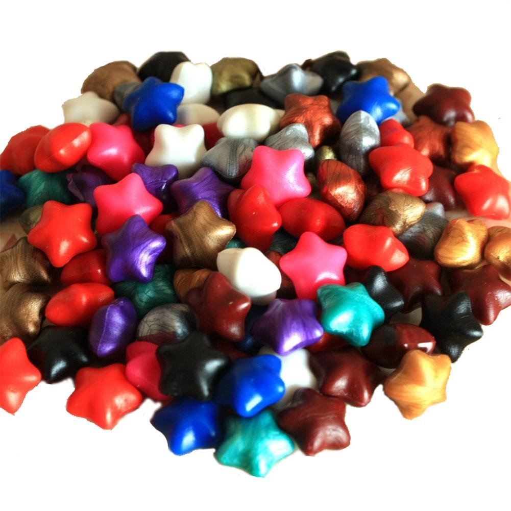 Holo Cute 50Pcs Star Shaped Wax Sealing Beads Set Letter Wedding Invitation Gift Color Random
