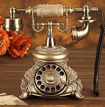 Xqcay Teléfono Antiguo Tocadiscos, Old-Fashioned Estilo ...