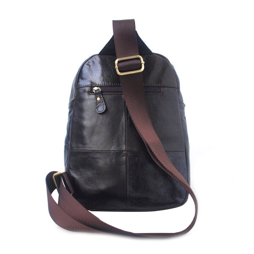 Genda 2Archer Leather Casual Day Backpack Fashion Travel Chest Bag Pack