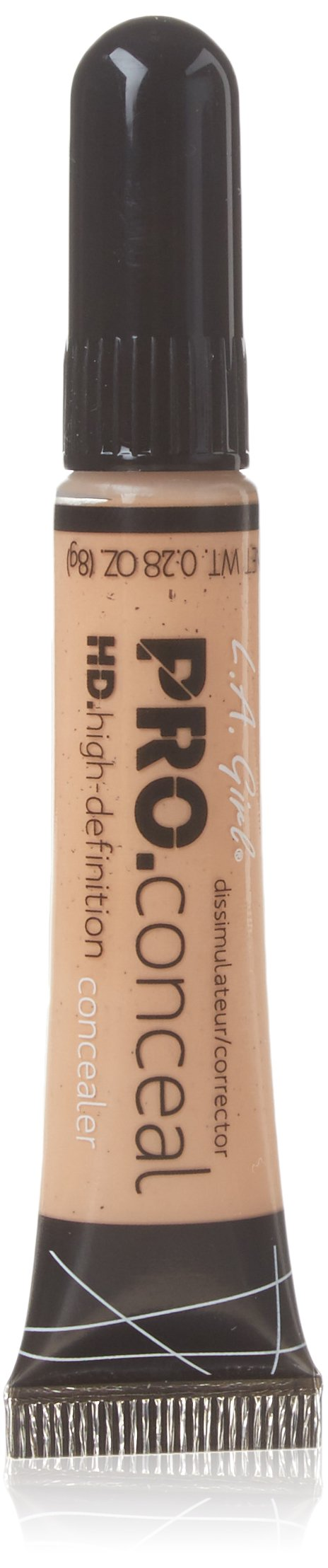 L.A. Girl Pro Conceal HD Concealer, Creamy Beige, 0.28 Ounce