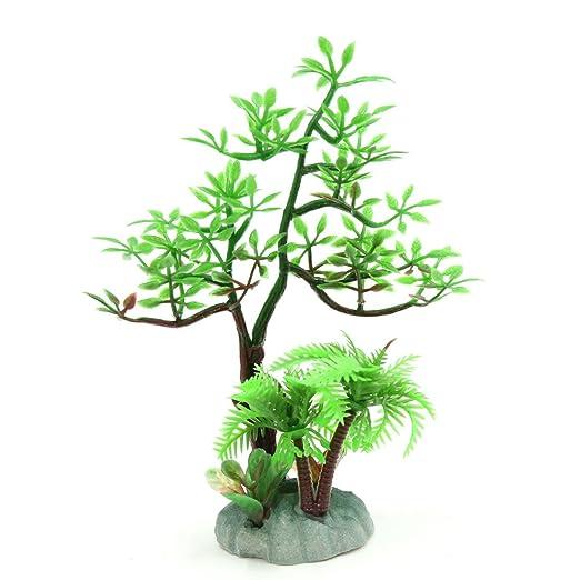 sourcing map Verde Ornamento Plástico Decoración del Paisaje Peces del Acuario Ornamento Planta Hierba para Pecera Pequeña: Amazon.es: Productos para ...