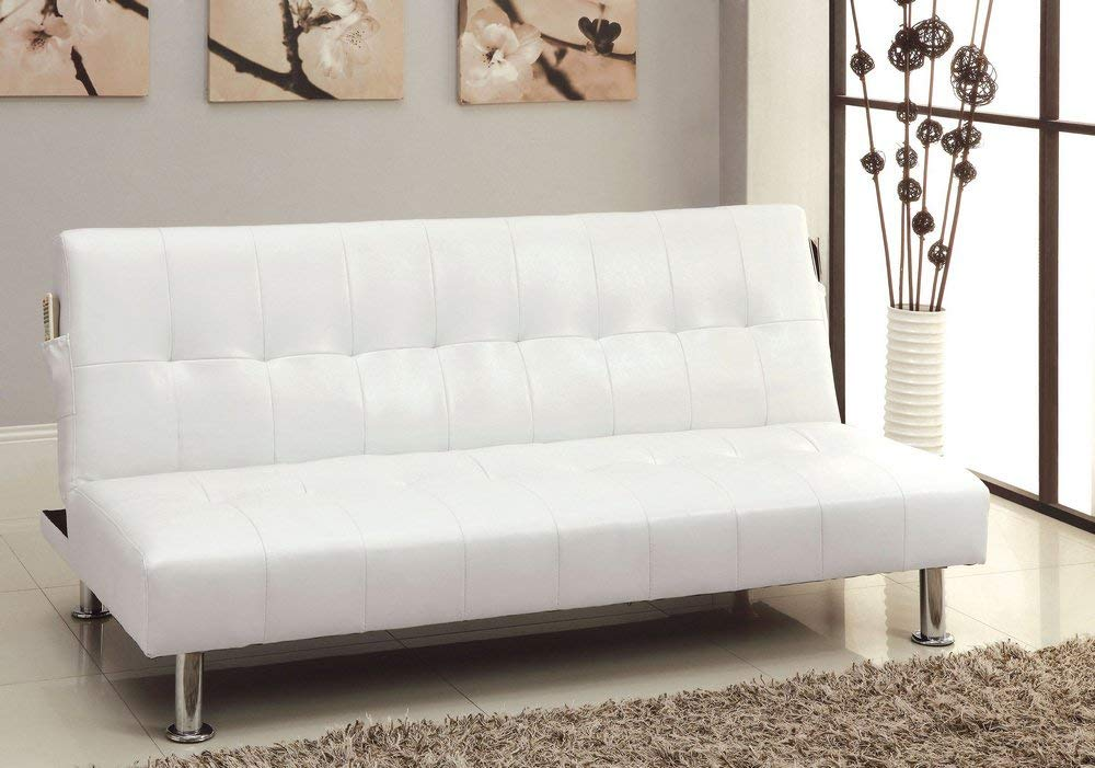 247SHOPATHOME Futon sofa, Twin, White by 24/7 Shop at Home