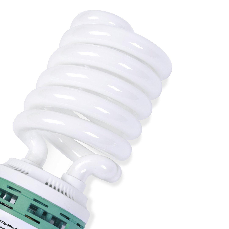 Phot-R 200W 220V E27 5500K Spiral Daylight Light Bulb Microfibre Chamois Cloth