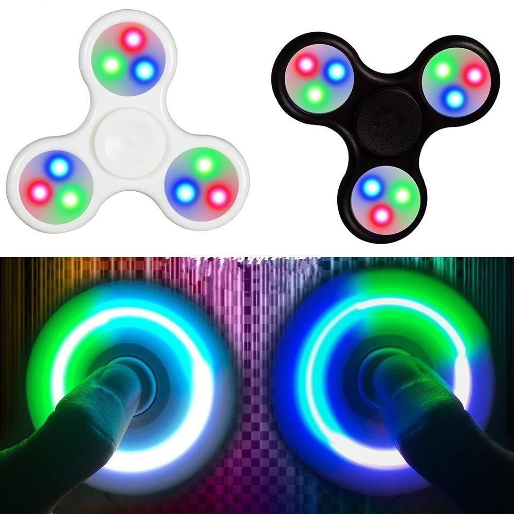 Hand Finger Spinner Fidget ADHS Anti Stress Konzentration Turbo LED Spielzeug