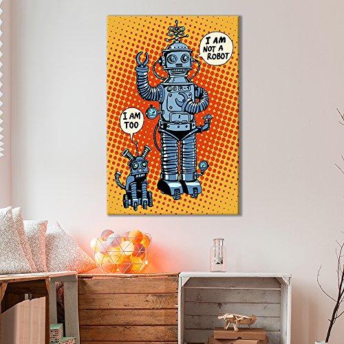 Robots Comic Book Style Pop Art Illustration