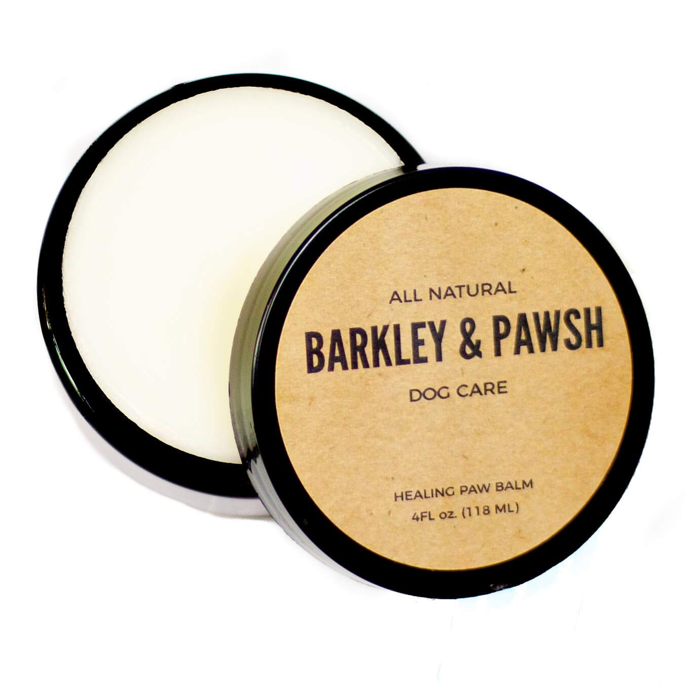 100% Natural Dog Paw Ointment for Dry, Cracked, Flaky Pads | 4 fl oz, Puppy Safe Balm | Cruelty and Chemical Free | Made in The USA (4oz) by Barkley and Pawsh