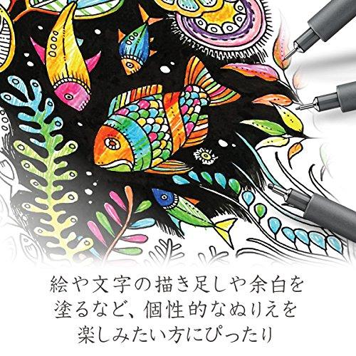 Staedtler 308 SB6P VE Pigment Liner 308 16 x 6 (4+2 Free) Black Pigment Ink Felt Tip Pens for Sketching/Drawing 0.5/0.1/0.2/0.3/0.5/0.8 mm by STAEDTLER (Image #8)
