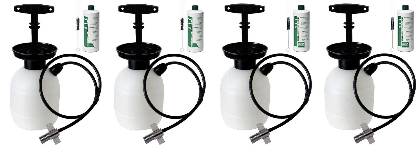 Kegco Deluxe Hand Pump Pressurized Keg Beer Cleaning Kit PCK with 32 Ounce National Chemicals Beer Line Cleaner (Set of 4)
