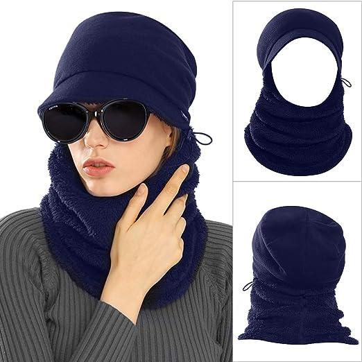 ebef6af95e7 AblerV Balaclava Men Women Winter Hat Scarf Set Windproof Ski Mask Winter  Warmer Protective Headgear Wind