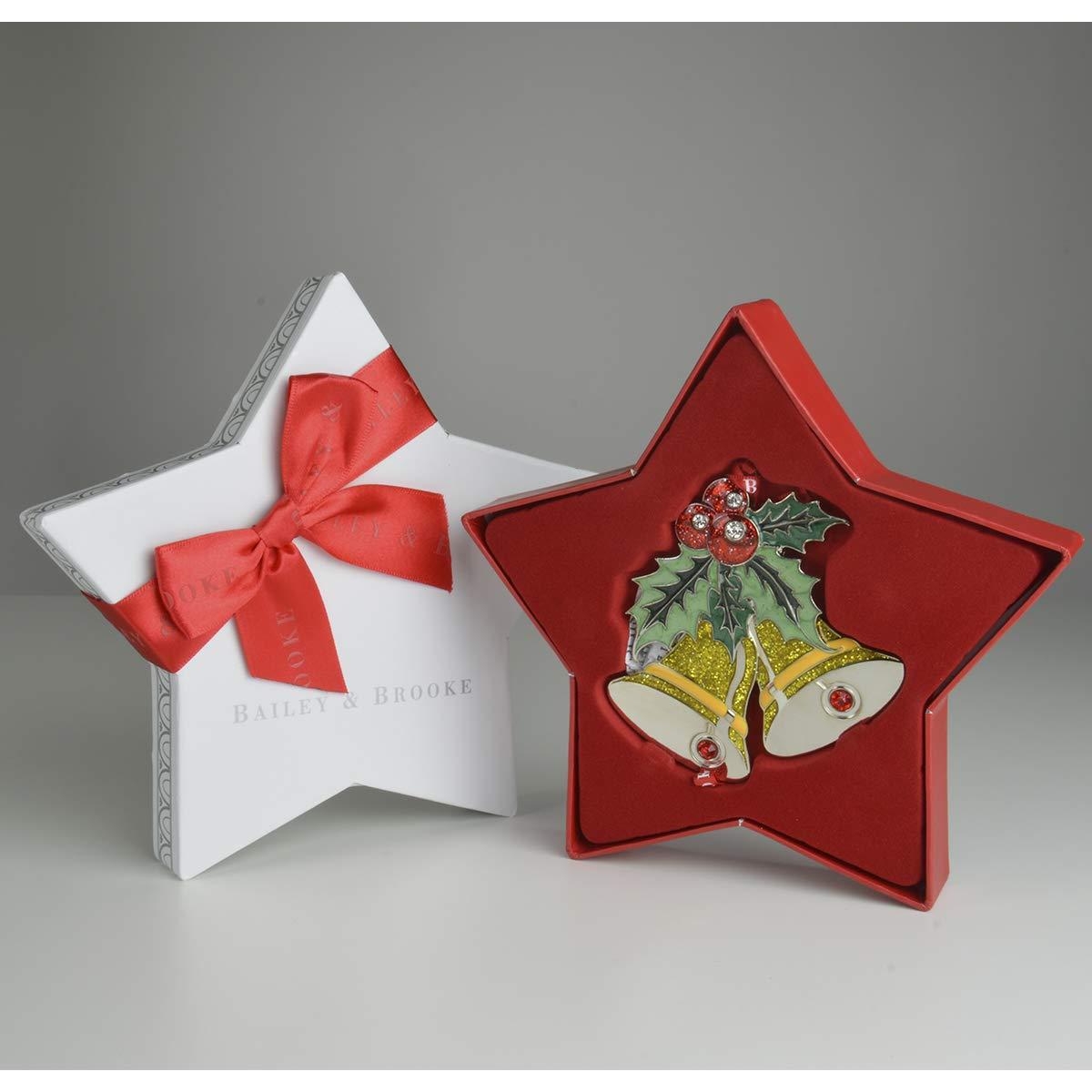 Bailey /& Brooke Sparkle Bells Decoration