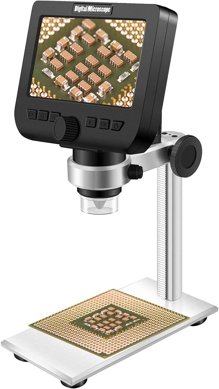 Industrial Digital Microscope Set,9 Inch Display 100X 2MP Industrial Digital Microscope Set with Bracket 100-240V US Plug 100-240V
