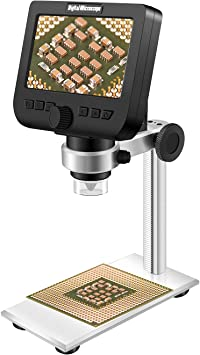 Amazon.com: Microscopio digital LCD, ONETEKS WiFi 4.3 ...