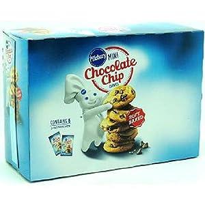 Pillsbury Mini Cookies Chocolate Chip, 6 Count (COOKIE&CRACKER - SNACK SIZE)