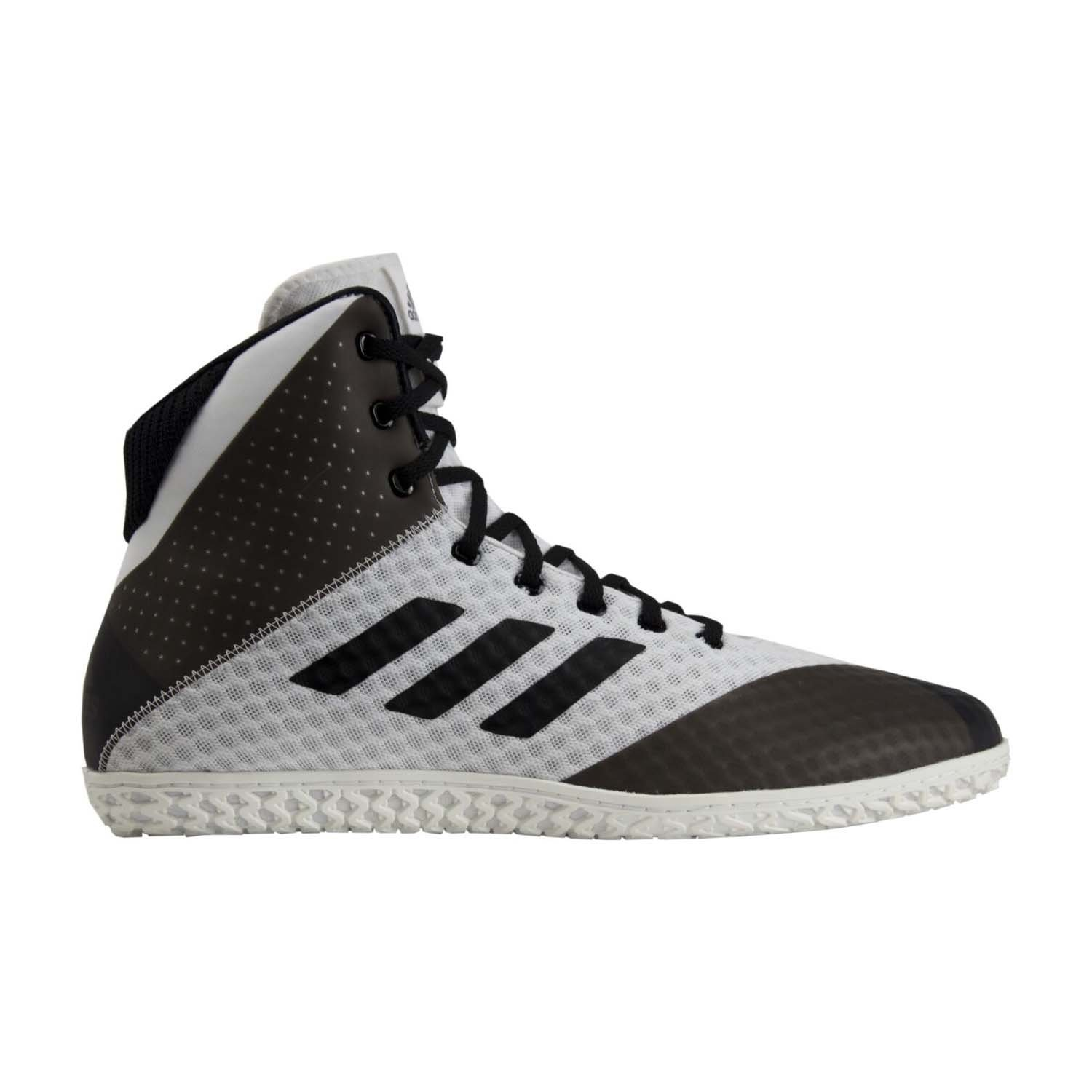 adidas Mat Wizard 4 Men's Wrestling Shoes, White/Black, Size 9