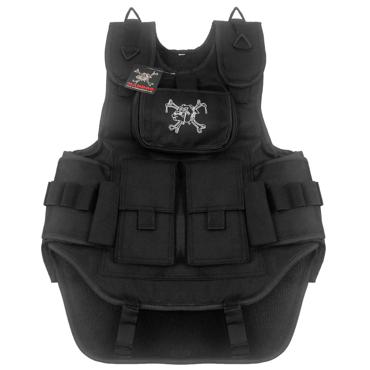 MAddog Sports Tactical Paintball Harness Vest (Stealth Black) by MAddog
