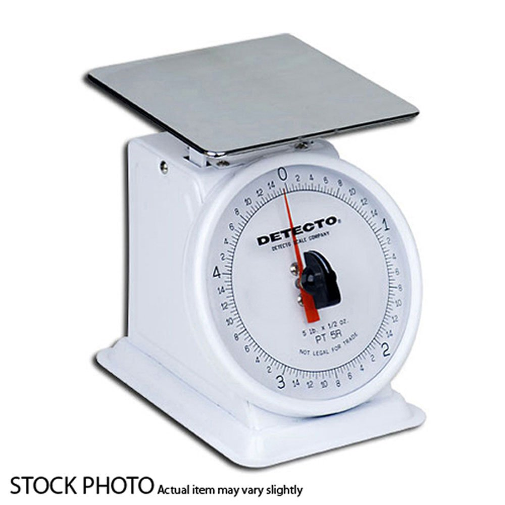 Detecto PT-25 Top Loading Fixed Dial Scale, 5.75'' x 5.75'', 25 lb. Capacity by Detecto