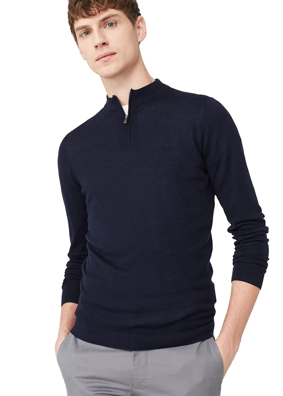 MANGO MAN - High collar wool sweater