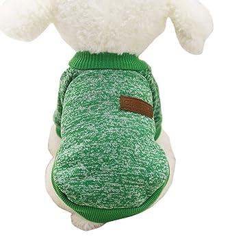 Ropa para Mascotas Amlaiworld Suéter de Perro Mascota 2018 Abrigo Punto Ropa Chaleco Chaqueta para Mascotas (Verde, M): Amazon.es: Juguetes y juegos