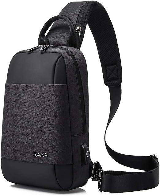 WAVENI Sling Bag Chest Pack Paquete de Cuerpo Cruzado con un Solo ...