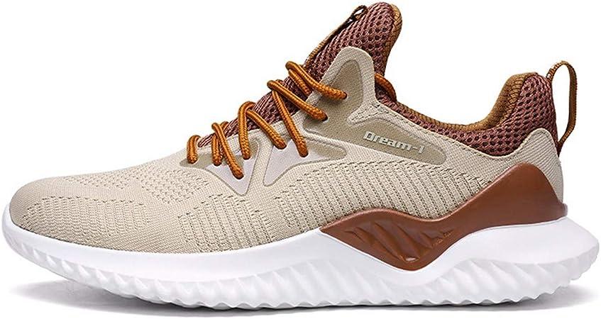 KMJBS-Autumn Fashion Flying Line Zapatillas de Deporte Zapatillas de Running Shock Aumento Coco Blanco Cuarenta y Tres: Amazon.es: Deportes y aire libre
