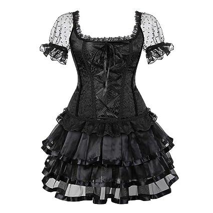 Amazon.com: SUSHENYIHHY Corset Dresses for Women Plus Size ...